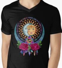 Star Child Wild Child - Full Color Men's V-Neck T-Shirt