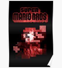 Mario Minimalist Nebula Design Poster