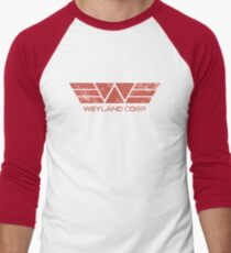 Weyland Corp - Distressed Red Men's Baseball ¾ T-Shirt