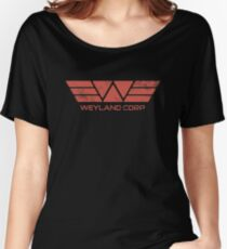 Weyland Corp - Distressed Red Women's Relaxed Fit T-Shirt