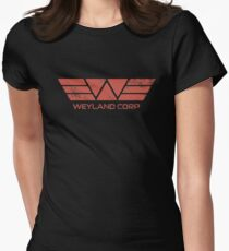 Weyland Corp - Distressed Red Women's Fitted T-Shirt