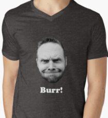 BURR! (white text) Men's V-Neck T-Shirt