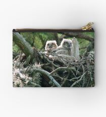 Great Horned Owl Chicks Studio Pouch