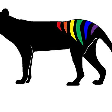 Rainbow Thylacine, Tasmania (light colour version) by phleabytes