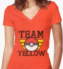 Team YELLOW! Women's Fitted V-Neck T-Shirt