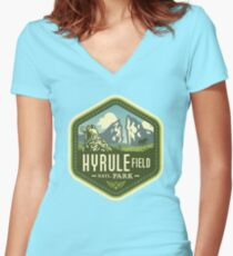 Hyrule National Park Women's Fitted V-Neck T-Shirt