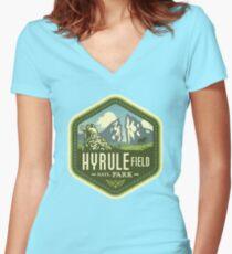 Camiseta entallada de cuello en V Parque Nacional Hyrule