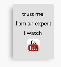 you tube expert Canvas Print