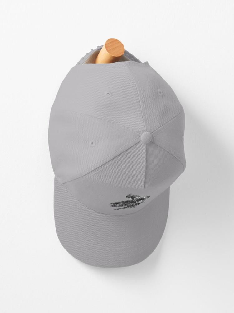 Alternate view of Percephone the Pelican Cap