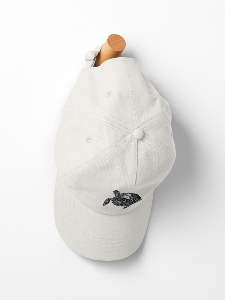Alternate view of Lucy the Sea Turtle with Remora  Cap