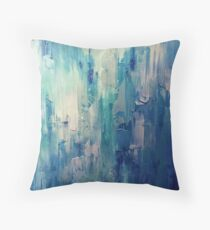 Absract Blue Paint Throw Pillow