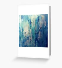 Absract Blue Paint Greeting Card