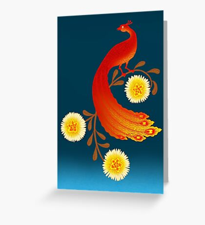 Folklore Firebird Greeting Card