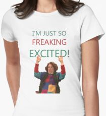 Kristen Wiig: I'm just so freaking excited!  Womens Fitted T-Shirt