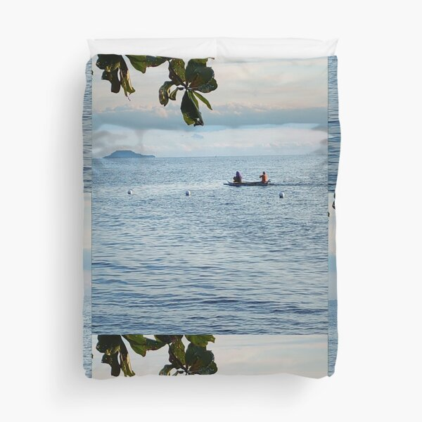 Sail On Calming Natureview SpeakChrist Duvet Cover
