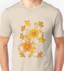 Shades of yellow .. flower design Unisex T-Shirt