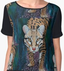 Stalking Ocelot Women's Chiffon Top