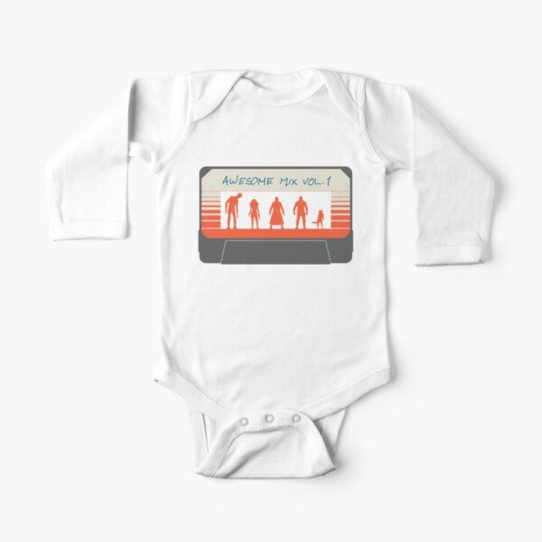 Awesome Mix Long Sleeve Baby One-Piece
