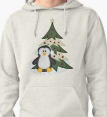 Christmas Penguin  Pullover Hoodie