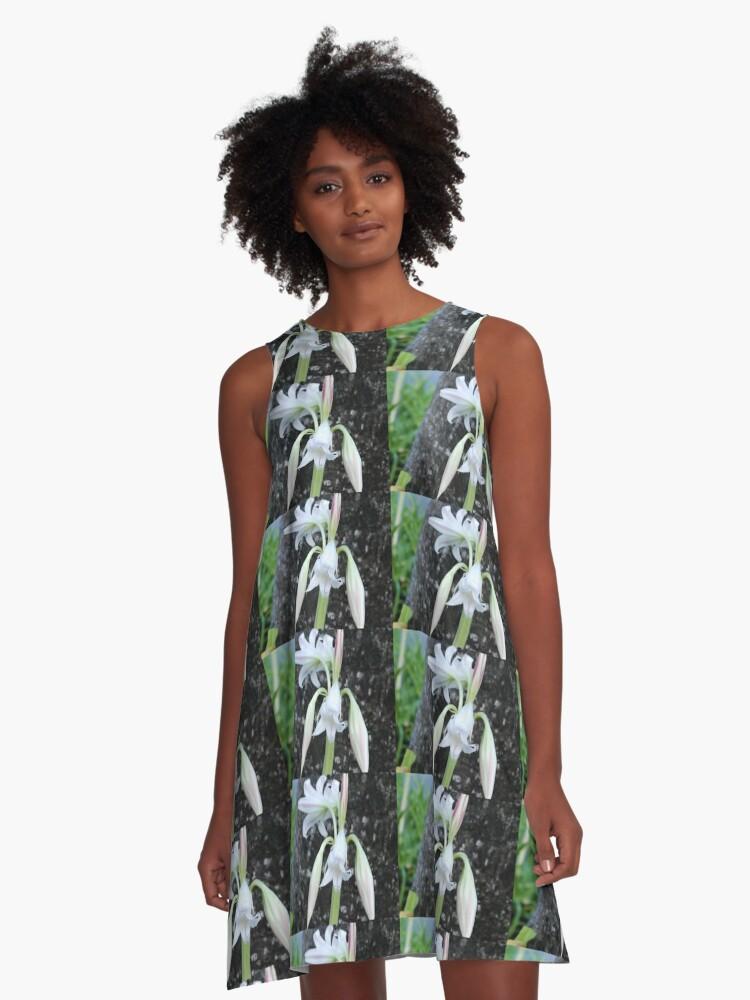 Barbados Spring Theme A-Line Dress Front