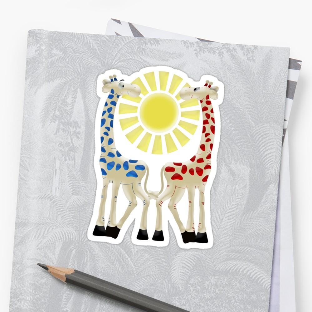 Cheeky Giraffes  by LoneAngel