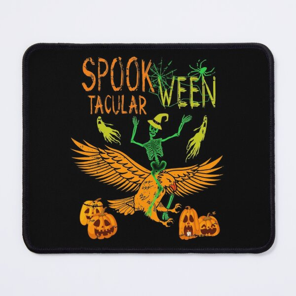 Halloween Skeleton Riding Eagle Spook Tacular Ween Mouse Pad