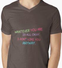 Shel Silverstein Don't Change On My Account Men's V-Neck T-Shirt