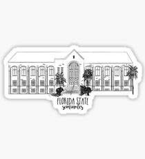 Florida State University William Johnston Building Sticker
