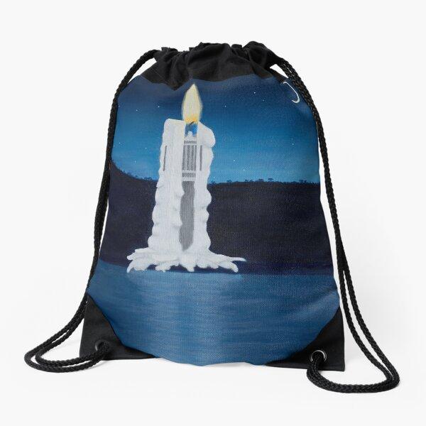 Ceci n'est pas une bougie Drawstring Bag
