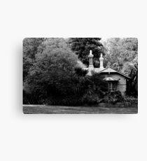 Garden in Balck & White Canvas Print