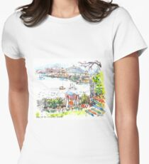 Sydney Harbour from Cockatoo Island Women's Fitted T-Shirt