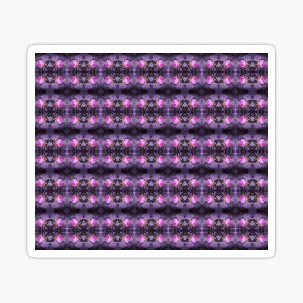 Old fashioned pink rose, purple texture pattern Sticker