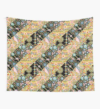 Crazy Quilt Boho Wall Tapestry