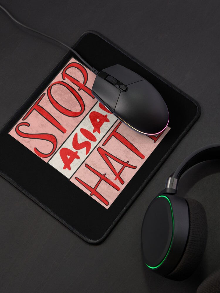 Alternate view of Asian Support- Stop Asian Hate - Anti Asian Racism Awareness Mouse Pad