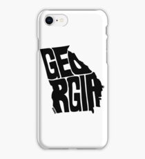 Georgia Map Drawing IPhone Cases Skins For X Plus - Georgia map drawing