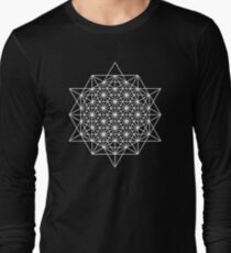 64 star tetrahedron sacred geometry  Long Sleeve T-Shirt