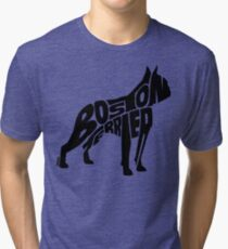 Boston Terrier Black Tri-blend T-Shirt