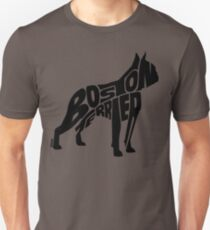 Boston Terrier Black Unisex T-Shirt