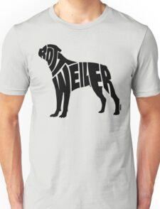 Rottweiler Black Unisex T-Shirt