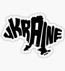 Ukraine Black Sticker