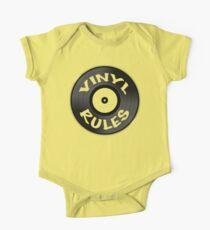 Vinyl Rules Baby Body Kurzarm