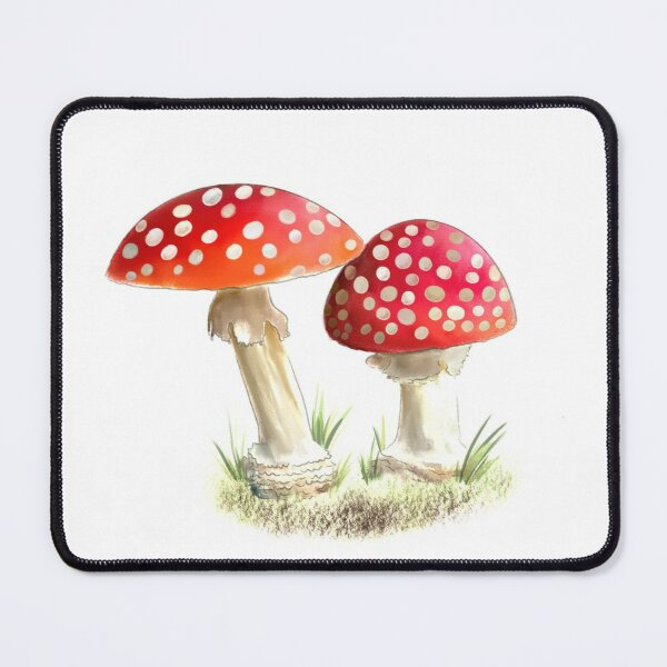 Two Red and White Woodland Toadstools Mouse Pad
