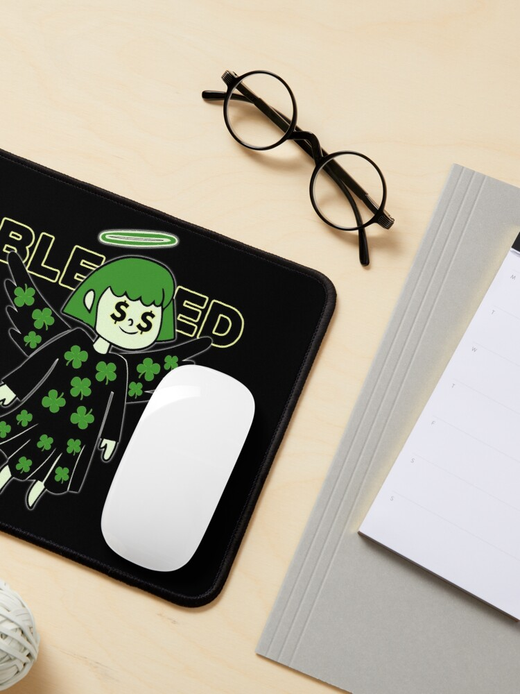Alternate view of Lucky Clover Blessed Angel - Good Luck Charm Mouse Pad