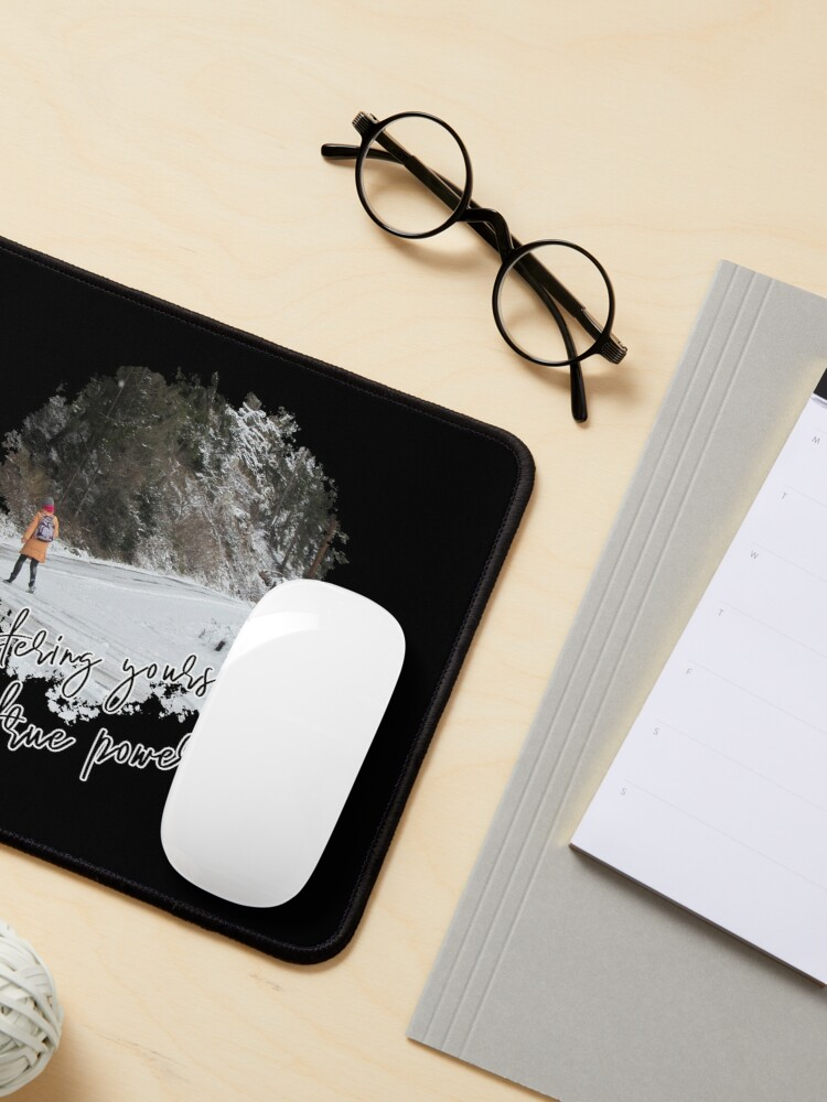 Alternate view of Mastering yourself is true power - Impactful Positive Motivational Mouse Pad