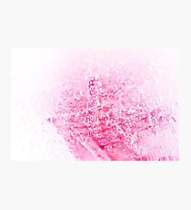 Abstract rose in ice with frozen bubbles Photographic Print