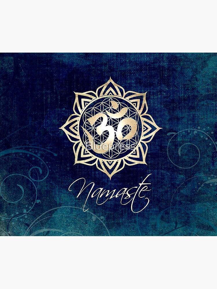 Namaste Lotus Flower of Life Mandala by Bluepress