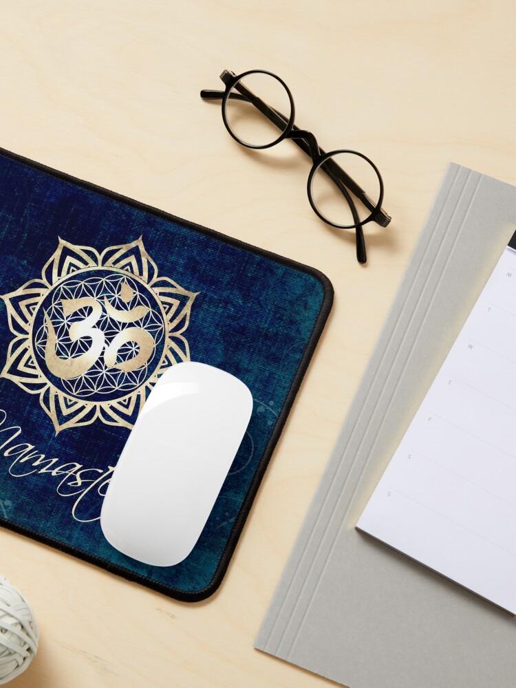 Alternate view of Namaste Lotus Flower of Life Mandala Mouse Pad