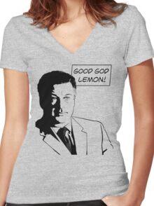 Good God Lemon Women's Fitted V-Neck T-Shirt