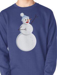 Blue Winter Happy Snowman T-Shirt