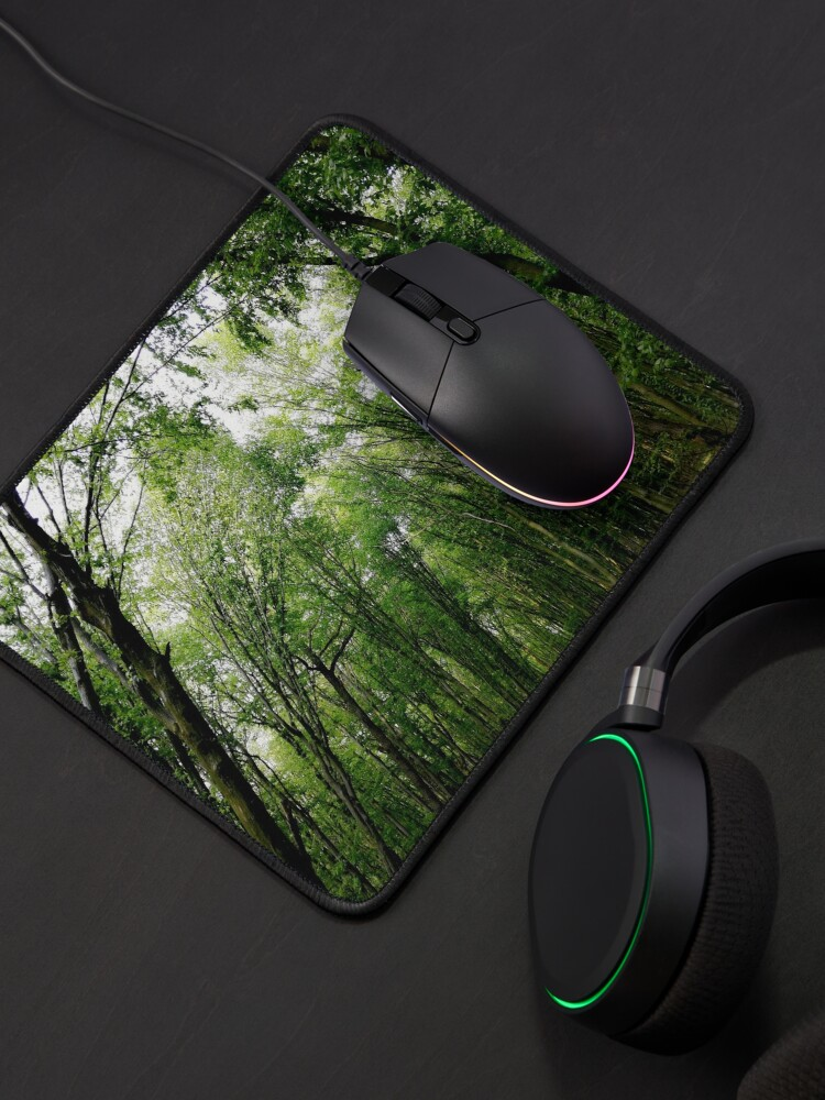 Alternate view of Natural landscape of green forest, dense, sunlight at sunset, wonderful color games, relaxation, zen, karma concept Mouse Pad